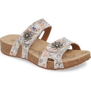 Josef Seibel Tonga 4 Flower Sandal Shoe 10 40